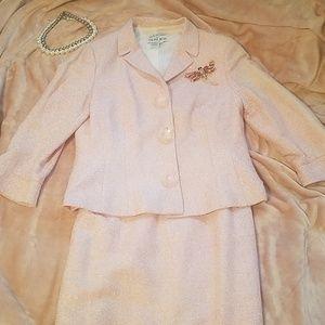 Rickie Freeman for TERI JON pink 2pc dress&jacket